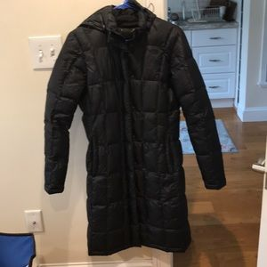 North face long puffer jacket